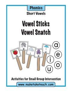 Vowel Sticks and Vowel Snatch