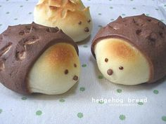 Hedgehog Bread. Now this is too, too cute! Hedgehog; who thought up this awfully cute idea? | Cute bread | Pinterest | Hedgehogs and Breads