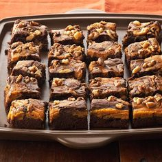 Must have pumpkin recipies in the fall!  Marbled Chocolate-Pumpkin Brownies recipes