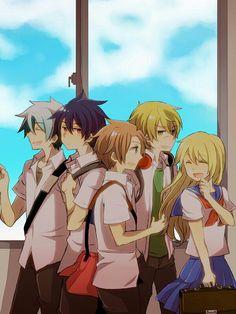 Crea, Shion, Ros, Alba, Foyfoy, Hime, school, uniforms, cute; Senyu