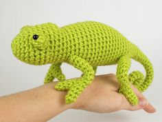 Chameleon (lizard) amigurumi crochet pattern