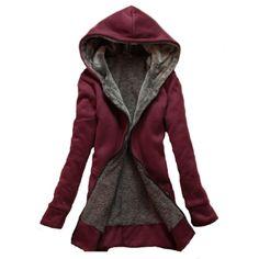 Long Sleeve Plush Lined Hoodie - Womens