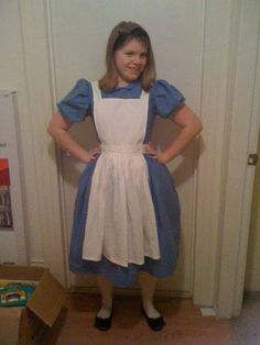 Alice in Wonderland for under $3 - using McCall's pattern 4948, with adjustments for collar and apron.