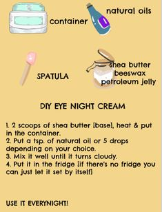 This Do-it-yourself [DIY] cream can be use in your eyebrows, eyelashes and if you have eye bags. Eyelashes, Eyebrows, Petroleum Jelly, Grape Seed Extract, Natural Oils, Shea Butter, How To Apply, Skin Care, Cream