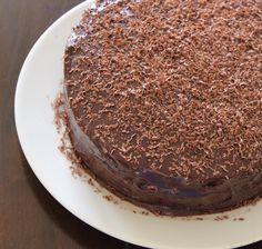 My Kitchen Antics: Double layer chocolate cake filled and frosted with a Baileys Irish cream ganache