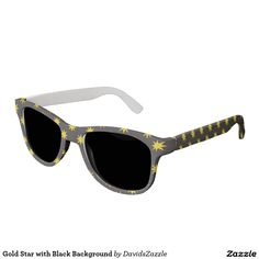 Gold Star with Black Background Sunglasses This design is available on many products! Hit the 'available on' tab near the product description to see them all! Thanks for looking!     @zazzle #art #star #pattern #shop #chic #modern #style #circle #round #fun #neat #cool #buy #sale #shopping #men #women #sweet #awesome #look #accent #fashion #clothes #apparel #earrings #headband #sunglasses #ties #belts #fingernail #black #blue #purple #orange #grey #gold