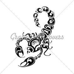 Scorpion Tattoo Art | Tribal Scorpio Tattoo. · GL Stock Images