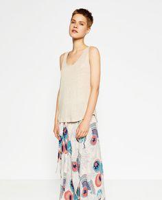 Image 1 de T-SHIRT EN LIN BASIQUE de Zara