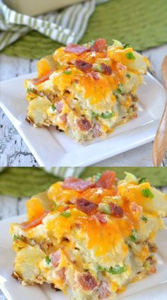 nothing more comforting than twice baked potatoes - unless you turn them into a casserole! This Twice Baked Potato Casserole has all your favorite flavors from a twice baked potato but in a delicious casserole form - yum! // Mom On Timeout Twice Baked Potatoes Casserole, Potatoe Casserole Recipes, Casserole Dishes, Recipes For Potatoes, Veg All Casserole, Augratin Potatoes Recipe, Potatoes Romanoff Recipe, Potato Cassarole, Brocolli Casserole