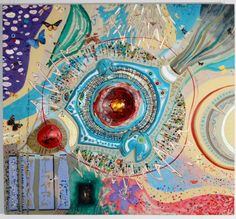 'The All Knowing Eye'  mixed media  Steve Zihlavsky