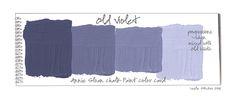 old violet mixed napoleon blue annie sloan   Ich habe ebenfalls mit den Grundfarben gespielt, indem ich sie ...