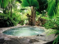 The History of Jacuzzi Outdoor Refuted Some Jacuzzi bathtubs have the capacity to run even when there's no water in the tub. Deciding upon a Jacuzzi bathtub on a normal bathtub has its benefits and disadvantages. Hot Tub Backyard, Small Backyard Pools, Swimming Pools Backyard, Swimming Pool Designs, Pool Landscaping, Small Pools, Lap Pools, Indoor Pools, Pool Decks