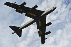 A B-52H Stratofortress flies over Minot Air Force Base, N.D., during a training exercise. In a conventional conflict, the B-52H can perform strategic attack, close-air support, air interdiction, offensive counter-air and maritime operations. (U.S. Air Force photo/Senior Airman Brittany Y. Auld) 3 Nov 2013.