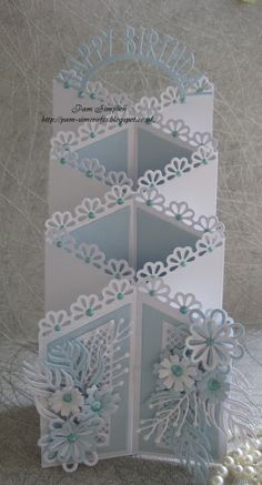 Good evening friends, followers and visitors.. Quick birthday card today.. using Tattered Lace Zig Zag die set. Card siz...