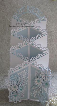 "pamscrafts: Zig Zag fold ""Birthday Card""."