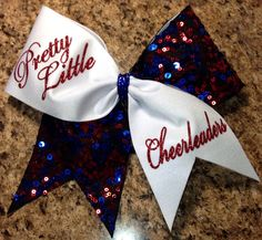 Pretty Little Cheerleaders cheer bow by Baddablingbows on Etsy like Pretty Little Liars Cute Cheer Bows, Cheer Hair Bows, Cheer Mom, Big Bows, Cheer Stuff, Cheer Pics, Cheer Pictures, Cheerleading Bows, Competitive Cheerleading