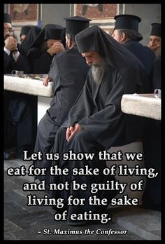 Wise words whether you are Protestant or Orthodox like those pictured.