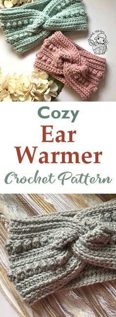 Bandeau Crochet, Crochet Headband Free, Knit Headband Pattern, Knitted Headband, Crochet Ear Warmer Pattern, Quick Crochet Patterns, Crotchet Patterns, Knitting Patterns, Crochet Ear Warmers