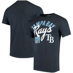Tampa Bay Rays New Era Script Jersey T-Shirt - Navy