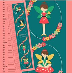 Kids Art Fairy Personalised Growth Chart