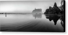 This image was captured during a visit to Olympic National Park in the Morning. The fog had lingered along the shoreline for quite a long time. Ruby Beach seemed to be rather quiet and peaceful. Beautiful Landscape Photography, Beautiful Landscapes, Fine Art Photography, Nature Photography, Travel Photography, Panoramic Photography, White Photography, Amazing Photography