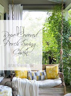 DIY Rope-Covered Porch Swing Chain