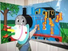 Thomas Party Game:  Could DIY with a thomas poster and printout 1s, Brilliant!
