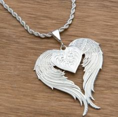 Montana Silversmiths Silver Winged Heart Necklace....I want!!!