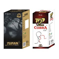 Get outstanding benefits from combo pack of #Tufan capsules and #KingCobra  oil to overcome #impotence and #erectile dysfunction, naturally without any side effects.