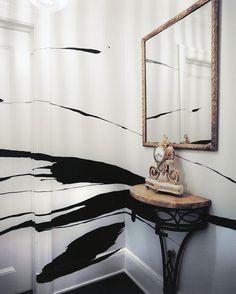 pintura BN y espejo
