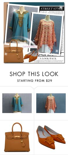 """""""CAFTAN YOSIKA #10"""" by albinnaflower ❤ liked on Polyvore featuring Hermès and Versace"""