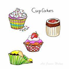 Cupcakes, 31 Things to Draw #28toMake #creativebug  #cbdrawaday #cbdrawadaychallenge #sketchbookexplorations #cbsketchbooking #cbugssketchbook #cbugsketchbook, #instaart, #illustration, #art, #artoftheday, #artwork, #drawingchallenge, #drawingoftheday, #artworks, #arts, #design,  #365drawings, #cupcakes