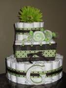 Diaper cakes are so cute!