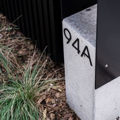 An off form concrete letterbox by @watersheddesign and Poa labillardieri 'glauca'. Mailbox, Concrete, Landscape, Outdoor Decor, Projects, Home Decor, House, Log Projects, Mail Drop Box