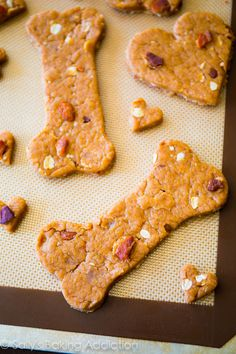 How to make Homemade Peanut Butter Dog Treats for your pup!! My dog has never been more excited! He loves them.