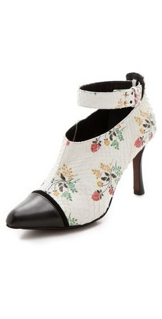 Very Pretty! Derek Lam Devon Floral Python Booties