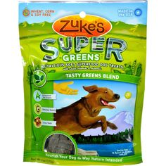 Zukes Super Greens Blend Treats - 6 oz