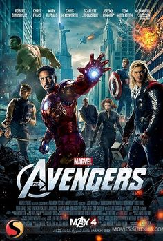 AVENGERS! Yesss!!! I know I seem to like alot of mainstream movies.... but woah. There is NOTHING like watching the Hulk throw Loki around like Raggedy Andy cushion doll. Plus, Super Hero/Action-y movies are my favorito. XD