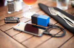 BOLT portable battery pack plugs right into a wall to charge. Fantastic for travelers!