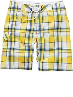 Mens Plaid Board Shorts Maternity Wear, Patterned Shorts, Latest Fashion, Old Navy, Plaid, Man Shop, Swimwear, How To Wear, Clothes