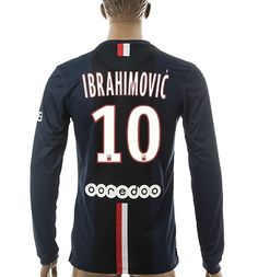 PSG Blue Jersey IBRAHIMOVIC 10 Longsleeve jersey  www.soccerjerseyteam.ru index.php Famous-Players-Jersey-c1867.html bc2b01b91