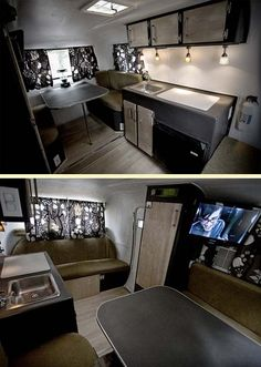 Cannot stop looking at the decor of this trailer. It's a scamp! thistinyhouse.com