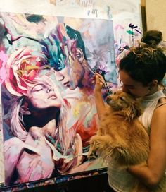 We are totally swooning over Dimitra Milan's art.