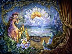 Waiting By Josephine Wall Josephine Wall, Jig Saw, Imagination Art, Earth Design, Wale, Beautiful Fairies, Creative Pictures, Illustrations, Heaven On Earth