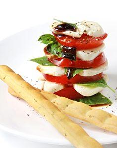 Caprese Salad With Sticky Balsamic Glaze Recipe- can use mozzarella instead of formaggio