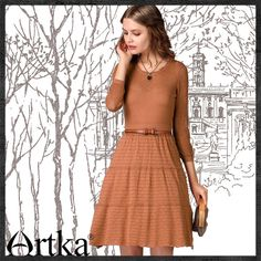 Artka® Women's Anne Series Spring 2015 / New Thin Waist Retro Cotton Dress LB10057C Retail: GBP £86.25 / Promotion Price / GBP £58.00 Visit Our Ebid Store : http://pierrette-new-store2.ebid.net/