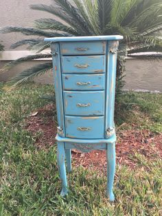Vintage Jewelry Armoire by TreasuresByTrishy on Etsy