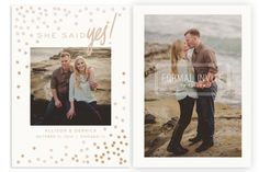 Foil Pressed Save the Date Templates by Jamie Schultz Designs