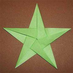 正方形の折り紙で五角形の作り方!五角形の星の折り方も紹介   セツの折り紙処