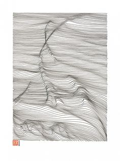 Artwork, Pen, Lines are drawn one by one, freehand. Ink drawing on paper, © Momoko Sudo - Image #567295